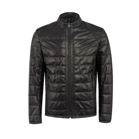 Duke Leather Jacket Slim Fit // Black (XS)