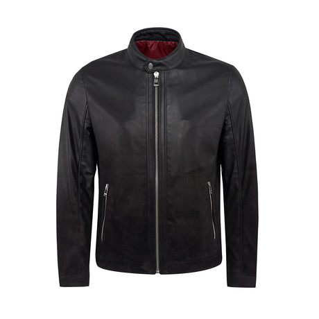 Ike Leather Jacket Regular Fit // Black (XS)