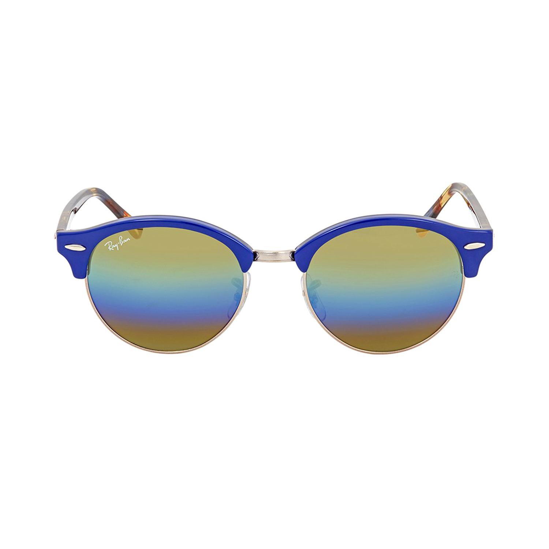 4364dafa84 Clubround    Blue Havana + Light Grey Mirror Rainbow - Ray-Ban ...