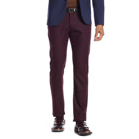 Harry Stretch Comfort Pants // Burgundy (30WX32L)