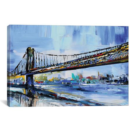 """Long Bridge // Piero Manrique (18""""W x 26""""H x 0.75""""D)"""