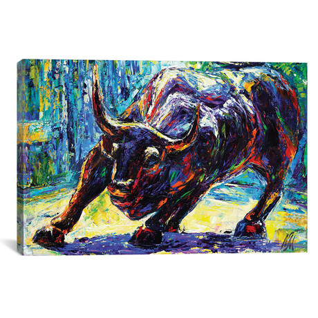 "Charging Bull // Natasha Mylius (18""W x 26""H x 0.75""D)"