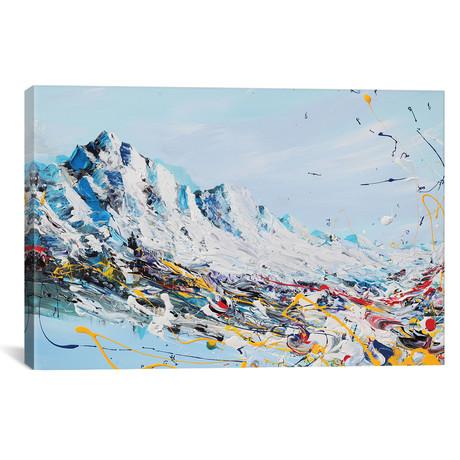 """Mountain Fun // Piero Manrique (18""""W x 26""""H x 0.75""""D)"""