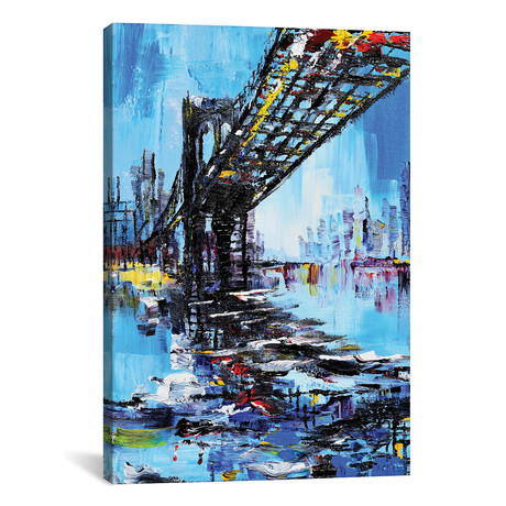 "Tall Bridge // Piero Manrique (26""W x 18""H x 0.75""D)"