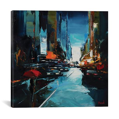 """A Walk At Sunset // Tatyana Yabloed (18""""W x 18""""H x 0.75""""D)"""
