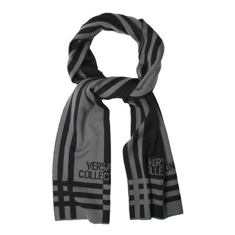 Wool Grid Scarf // Gray