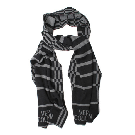 Wool Striped Scarf // Gray