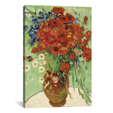 Vase with Daisies and Poppies // Vincent van Gogh