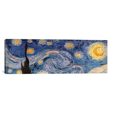 """The Starry Night (Panoramic) (20""""W x 60""""H x 0.75""""D)"""