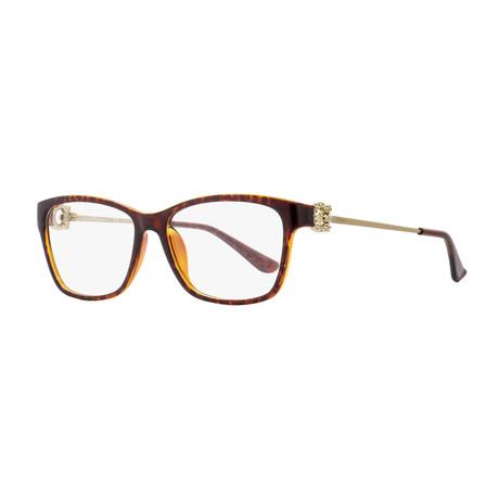 Ferragamo // Women's Modified Rectangle Optical Frames // Tortoise