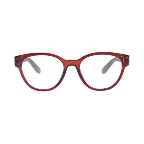 Ferragamo // Women's Tea Cup Eyeglass Frame // Brown