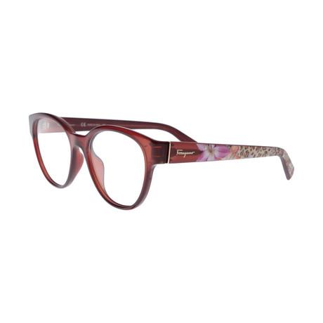 Ferragamo // Women's Tea Cup Optical Frames // Brown