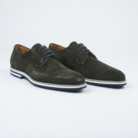 Berlina Lace Up // Velour Cement (Euro: 39.5)
