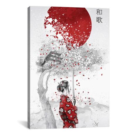 """Japanese Poem // Marine Loup (26""""W x 18""""H x 0.75""""D)"""