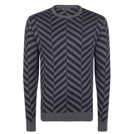 Chase Pullover // Navy + Gray (S)
