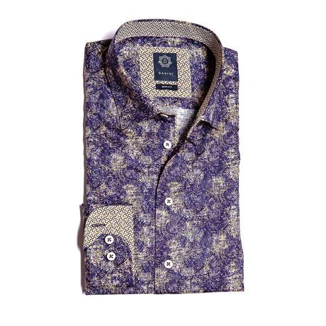 Lawrence Modern Fit Dress Shirt // Purple (XL)
