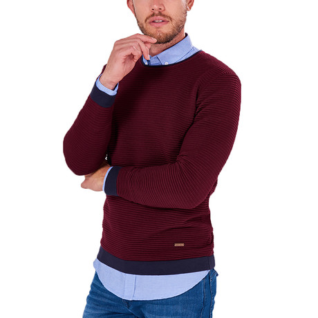 Ridged Sweater // Bordeaux (S)