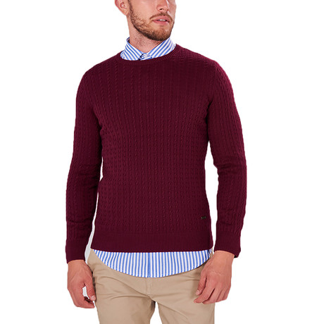 Patterned Knit Jumper // Bordeaux (S)
