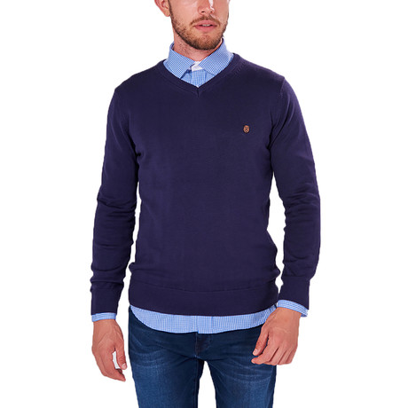 V-Neck Jumper // Navy (S)