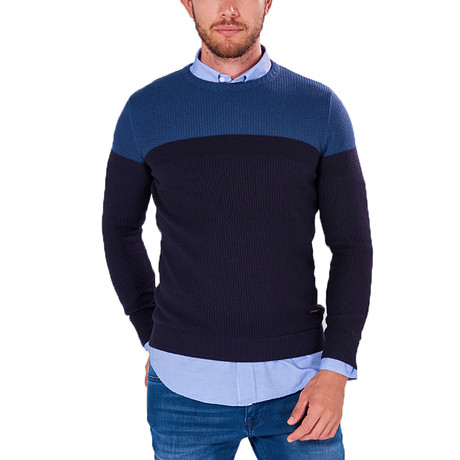 Color-Block Jumper // Indigo (S)