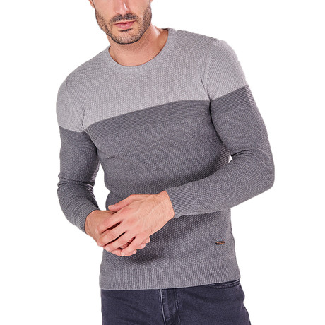 Color-Block Jumper // Gray (S)