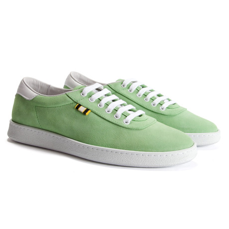 Suede Low Sneaker // Lime (Euro: 40)