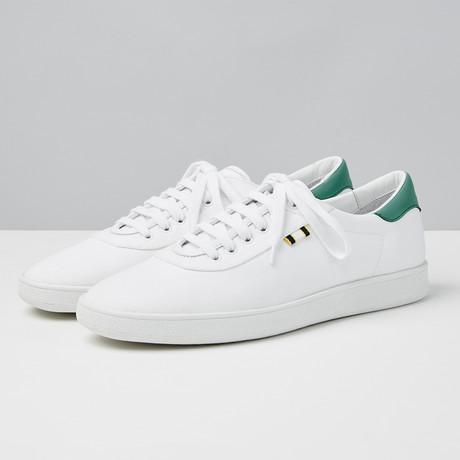 Canvas Low Sneaker // White + Kelly Green (Euro: 40)