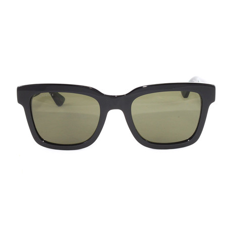 Gucci // Men's GG0001S Sunglasses // Black + Green