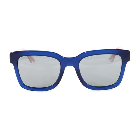 Men's GG0001S Sunglasses // Blue + Crystal Red