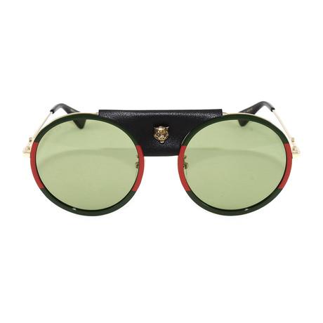 Men's GG0061S Sunglasses // Gold + Red + Green