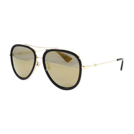Men's GG0062S Sunglasses // Gold + Black