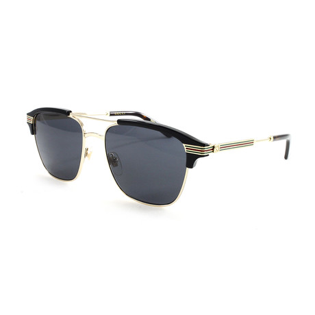 Gucci // Men's GG0241S Sunglasses // Gold + Black