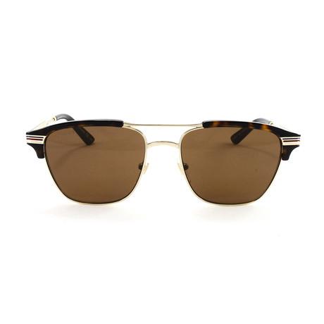 Men's GG0241S Sunglasses // Gold Havana
