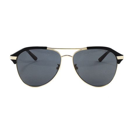 Men's GG0288SA Sunglasses // Black + Gold Havana