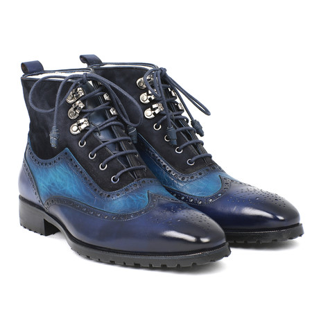 Wingtip Boots // Blue (Euro: 37)