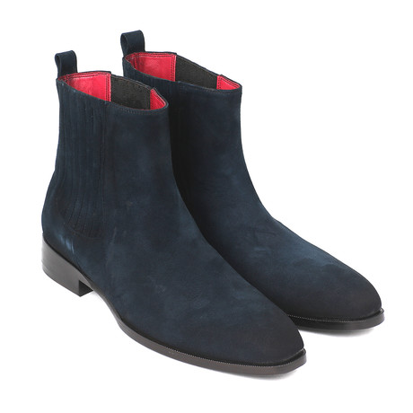 Suede Chelsea Boots // Navy (Euro: 37)