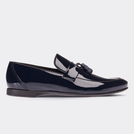 Anderson Loafer Moccasin Shoes // Navy Blue (Euro: 38)