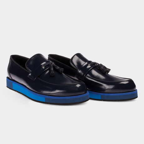 Sincere Loafer Moccasin Shoes // Navy Blue (Euro: 38)