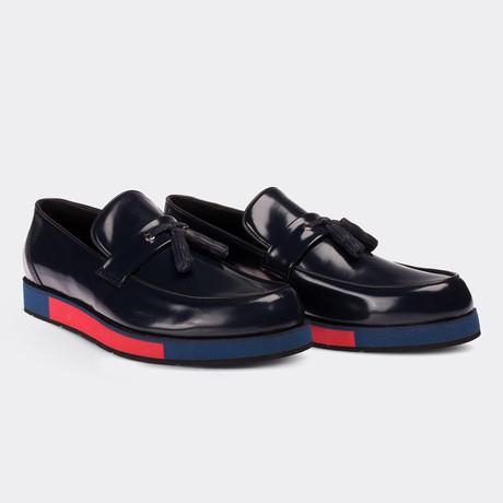 Derek Loafer Moccasin Shoes // Navy Blue (Euro: 38)