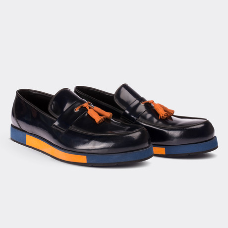 Ahmad Loafer Moccasin Shoes // Navy Blue (Euro: 38)