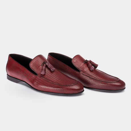 Wilson Loafer Moccasin Shoes Red (Euro: 38)