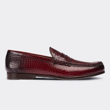 Zechariah Loafer Moccasin Shoes // Claret Red (Euro: 38)