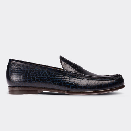 Gregory Loafer Moccasin Shoes // Navy Blue (Euro: 38)