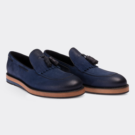 Ignacio Loafer Moccasin Shoes // Blue (Euro: 38)