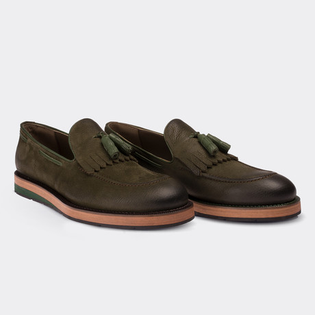 Kody Loafer Moccasin Shoes // Green (Euro: 38)
