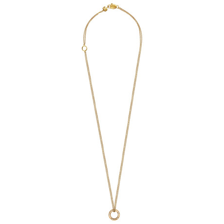 "Damiani D.Side 18k Yellow Gold Diamond Pendant Necklace // Chain Length: 18"" // 2009871"