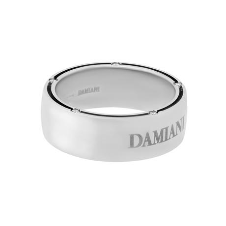 Damiani D Side 18k White Gold Diamond Ring (Ring Size: 6.25)