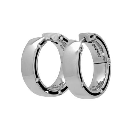 Damiani D.Side 18k White Gold Diamond Earrings