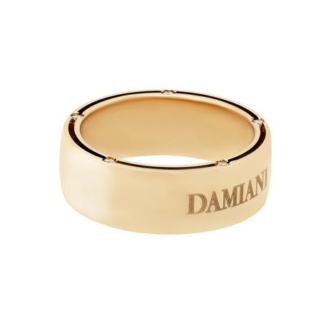 Damiani D Side 18k Yellow Gold Diamond Ring (Ring Size: 7)