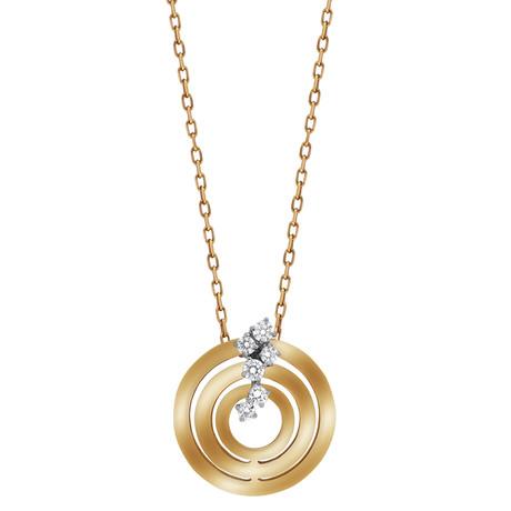 "Damiani Sophia Loren 18k Rose Gold Diamond Pendant Necklace // Chain Length: 18"""